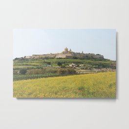Spring at Mdina, Malta Metal Print