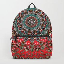 Mandala Christmas Pug Backpack