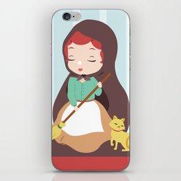 Porcelain Girl (Redhead) iPhone Skin