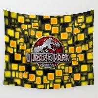 jurassic park Wall Tapestries featuring JURASSIC PARK by BeautyArtGalery