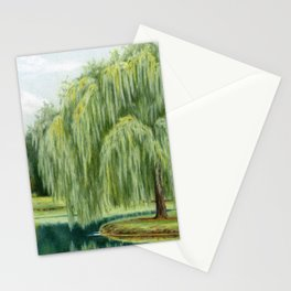 Under The Willow Tree by Sarah Batalka Stationery Cards