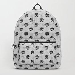 Grunge Skulls Pattern Backpack