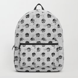 Grunge Skulls Pattern Backpack