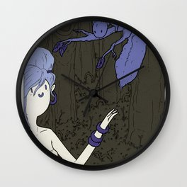 MAUD and the DRAGON - WINTER Wall Clock