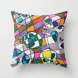 Skullopoly Throw Pillow