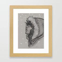 Ash and Snow Framed Art Print