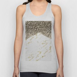 Shimmering mixed golds chevron Unisex Tank Top