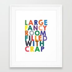 Large Fancy Room Filled with Crap - Version #2 Framed Art Print