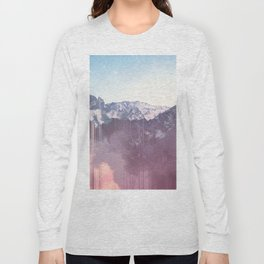 Glitched Mountains Long Sleeve T-shirt