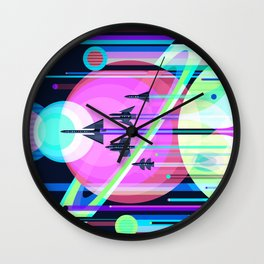 The Grand Tour : Vintage Space Poster Cool Wall Clock