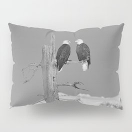 Perched With A View Duo - B & W Pillow Sham