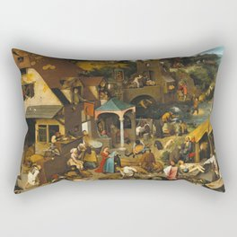 Pieter Bruegel The Elder - The Dutch Proverbs Rectangular Pillow