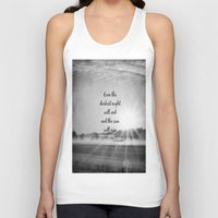 les miserables Tank Tops featuring Les Miserables Quote Victor Hugo by KimberosePhotography