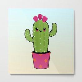 Cactus kawaii Metal Print
