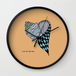Love for the Sea Wall Clock