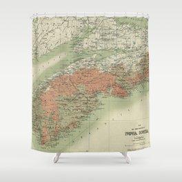 Vintage Geological Map of Nova Scotia (1906) Shower Curtain