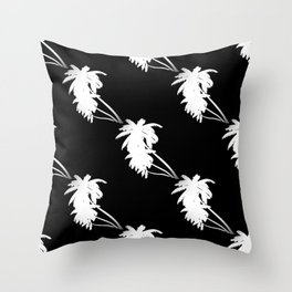 Palm Tree Pattern Black and White Throw Pillow