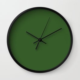 Shoreline Shadows ~ Leaf Green Coordinating Solid Wall Clock