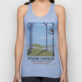 stow on the wold vintage travel poster Unisex Tank Top