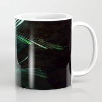 malachite Mugs featuring Malachite by Lea Gray Design