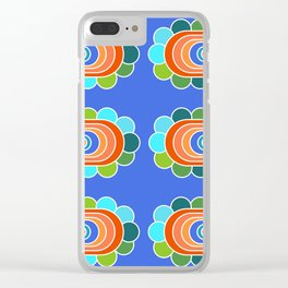 Blooming Bold Clear iPhone Case