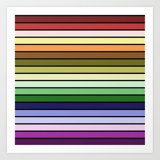 MULTICOLORED STRIPES (abstract pattern) Art Print