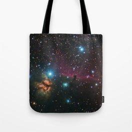 Flame and Horsehead Nebulae Tote Bag