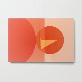 Abstraction_Sunset_Ocean_Sailing_Minimalism_001 Metal Print