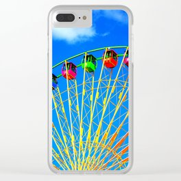 Colorful Ferris Wheel Clear iPhone Case