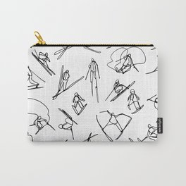 Skiers :: Single Line Carry-All Pouch