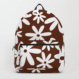 Tiare Flower Brown Backpack