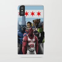 sports iPhone & iPod Cases featuring Chicago Sports by Carrillo Art Studio