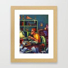 80's Computer Geek Framed Art Print