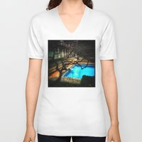 milan V-neck T-shirts featuring milan pool by chicco montanari