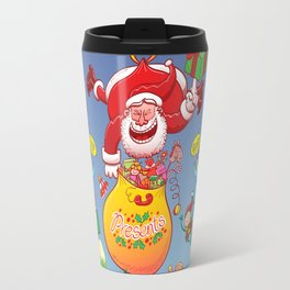Santa has a Zeppelin to Deliver Christmas Gifts Travel Mug