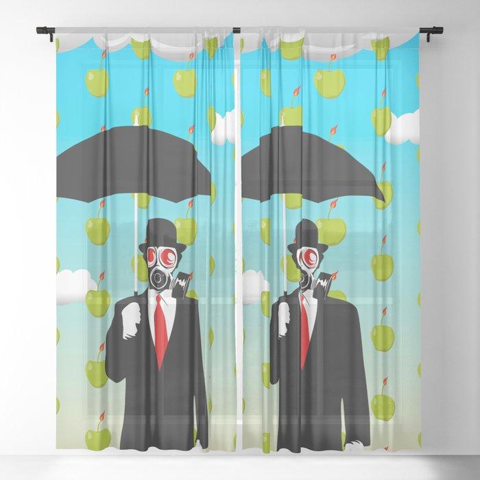 Umbrella Man Sheer Curtain