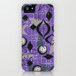 Mid Century Atomic Arrow Patterns iPhone Case