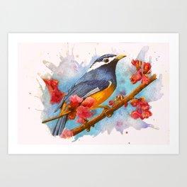 Bird in Pink Art Print