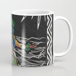Polynesian Hula Dancer Tapa Print Coffee Mug