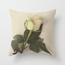 Dusky pink rose Throw Pillow