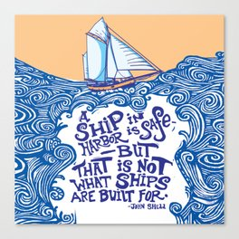 To Be at Sea Canvas Print