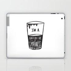 glass half full of emptiness Laptop & iPad Skin
