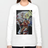 rush Long Sleeve T-shirts featuring Zombie Rush  by Shawn Norton Art