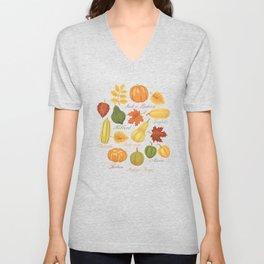 Gourds and Pumpkins Unisex V-Neck