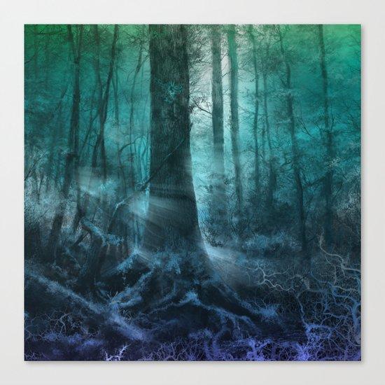 magical forest landscape Canvas Print