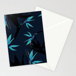 Fall print in navy and bright blue (also available in forest green and mustard) Stationery Cards