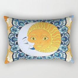 Sun and Moon Mandala Rectangular Pillow