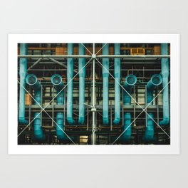 Pipes and vents - The Centre Pompidou, Paris Art Print