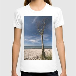 storm-tossed tree at the sea - Beach Ocean T-shirt