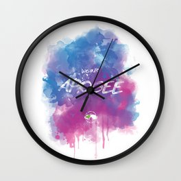 WE ARE APOGEE Wall Clock